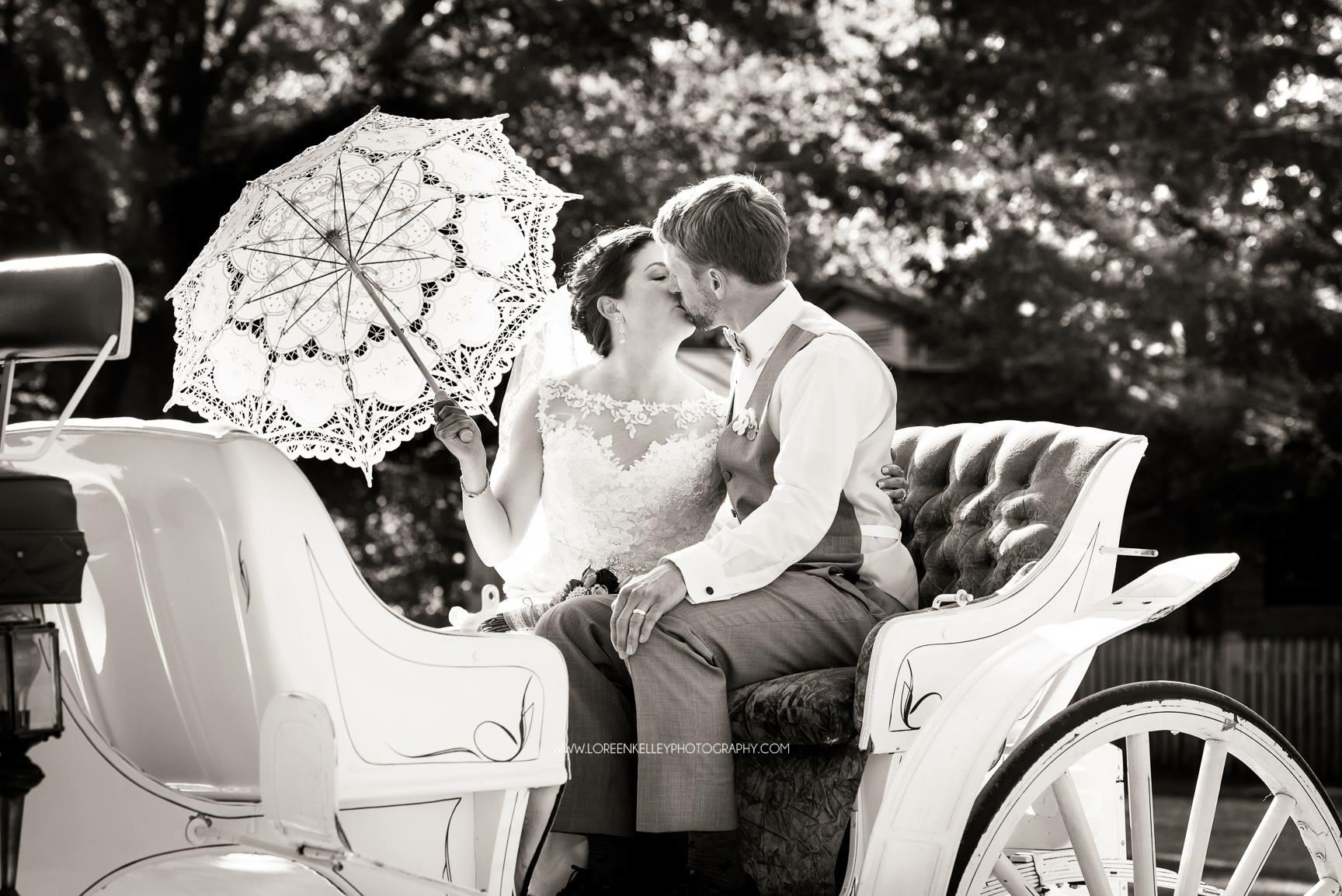 Carriage Ride Wedding Romance Vermont VT